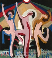 Colourful Dance I painting reproduction, Ernst Ludwig Kirchner