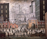 Coming from the Mill painting reproduction, Laurence Stephen Lowry