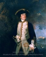 Commodore the Honourable Augustus Keppel painting reproduction, Sir Joshua Reynolds