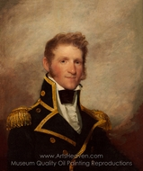 Commodore Thomas Macdonough painting reproduction, Gilbert Stuart