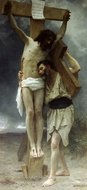 Compassion painting reproduction, William A. Bouguereau
