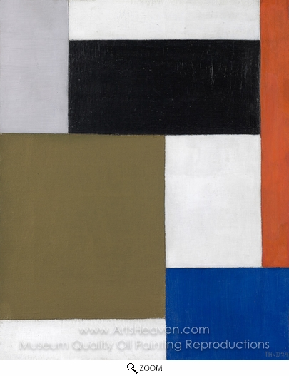Theo Van Doesburg, Composition 1923 oil painting reproduction