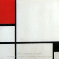 Composition, 1929 painting reproduction, Piet Mondrian