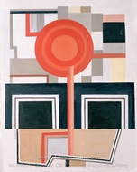 Composition painting reproduction, Fernand Leger