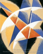 Composition painting reproduction, Liubov Popova