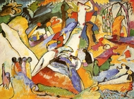 Composition II painting reproduction, Wassily Kandinsky