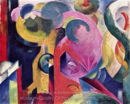 Composition III painting reproduction, Franz Marc