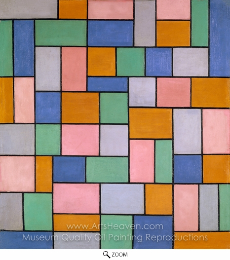 Theo Van Doesburg, Composition in Dissonances oil painting reproduction