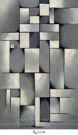 Theo Van Doesburg, Composition in Gray oil painting reproduction