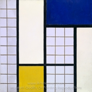 Composition in Half-Tones painting reproduction, Theo Van Doesburg
