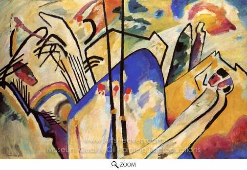 Wassily Kandinsky, Composition IV oil painting reproduction