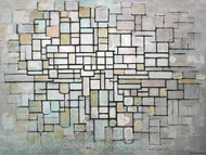 Composition No. 11 painting reproduction, Piet Mondrian