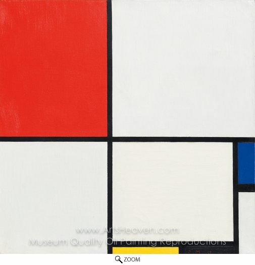 Piet Mondrian, Composition No. III, with Red, Blue, Yellow and Black oil painting reproduction