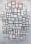Composition No. IV painting reproduction, Piet Mondrian