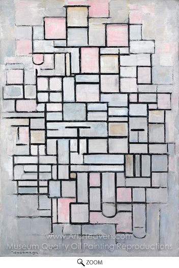 Piet Mondrian, Composition No. IV oil painting reproduction