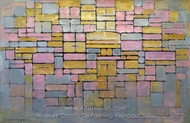 Composition No. V painting reproduction, Piet Mondrian
