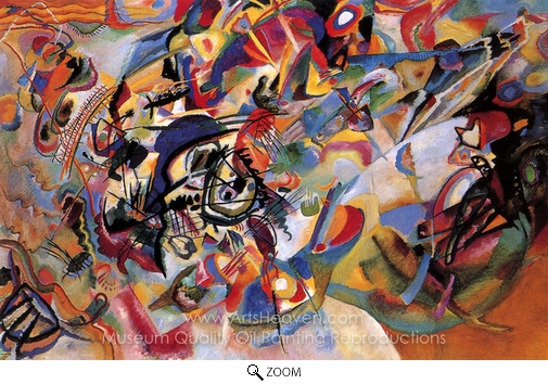 Wassily Kandinsky, Composition VII oil painting reproduction