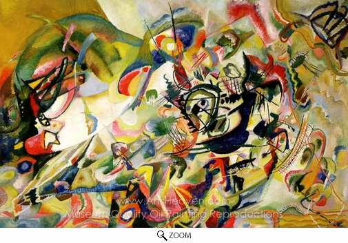 Wassily Kandinsky, Composition VII (No. 7) oil painting reproduction