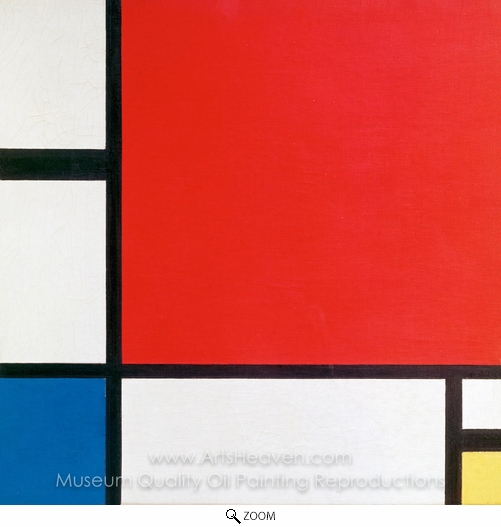 Piet Mondrian, Composition with Red, Blue and Yellow oil painting reproduction