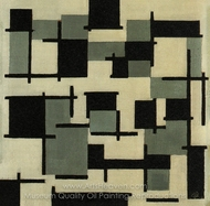 Composition XIII painting reproduction, Theo Van Doesburg