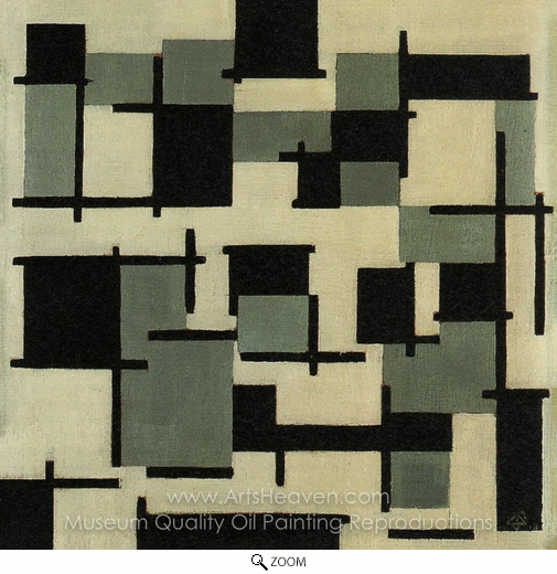 Theo Van Doesburg, Composition XIII oil painting reproduction