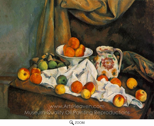 Paul Cézanne, Compotier, Pitcher, and Fruit (Nature morte) oil painting reproduction