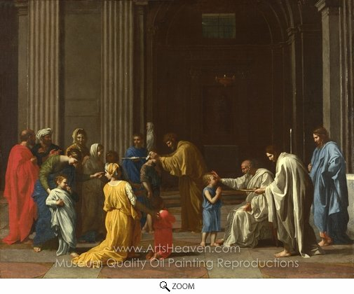 Nicolas Poussin, Confirmation oil painting reproduction