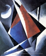 Construction painting reproduction, Liubov Popova