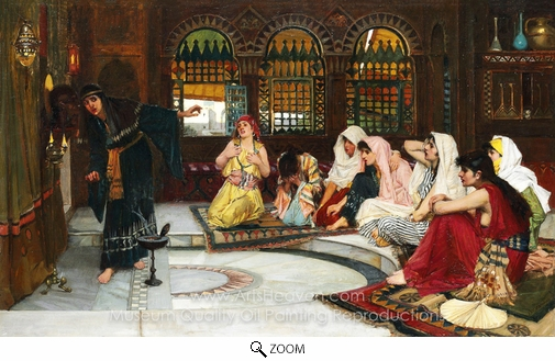 John William Waterhouse, Consulting the Oracle oil painting reproduction