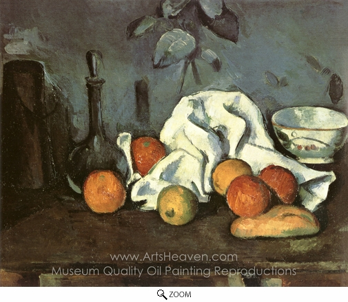 Paul Cézanne, Containers, Fruit, Dishcloth oil painting reproduction
