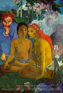 Conted Barbares (Primitive Tales) painting reproduction, Paul Gauguin