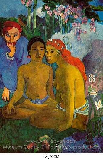 Paul Gauguin, Conted Barbares (Primitive Tales) oil painting reproduction
