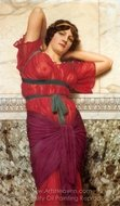 Contemplation painting reproduction, John William Godward