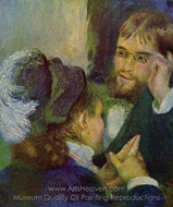 Conversation painting reproduction, Pierre-Auguste Renoir