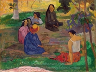 Conversation painting reproduction, Paul Gauguin