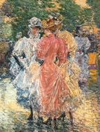 Conversation on the Avenue painting reproduction, Childe Hassam