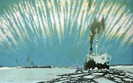 Convoy to Russia painting reproduction, Charles Pears