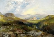 Conway Castle painting reproduction, Thomas Moran