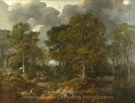 Cornard Wood, Near Sudbury, Suffolk painting reproduction, Thomas Gainsborough