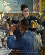 Corner in a Cafe-Concert painting reproduction, �douard Manet