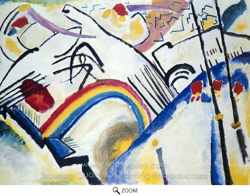 Wassily Kandinsky, Cossacks oil painting reproduction