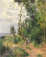 Cote des Grouettes, Near Pontoise painting reproduction, Camille Pissarro