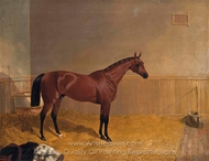 Cotherstone, a Bay Colt in a Stall painting reproduction, John Frederick Herring Sr.