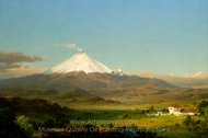 Cotopaxi painting reproduction, Frederic Edwin Church