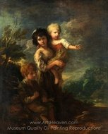Cottage Children (The Wood Gatherers) painting reproduction, Thomas Gainsborough