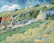Cottages painting reproduction, Vincent Van Gogh