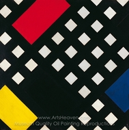 Counter-Composition XV painting reproduction, Theo Van Doesburg