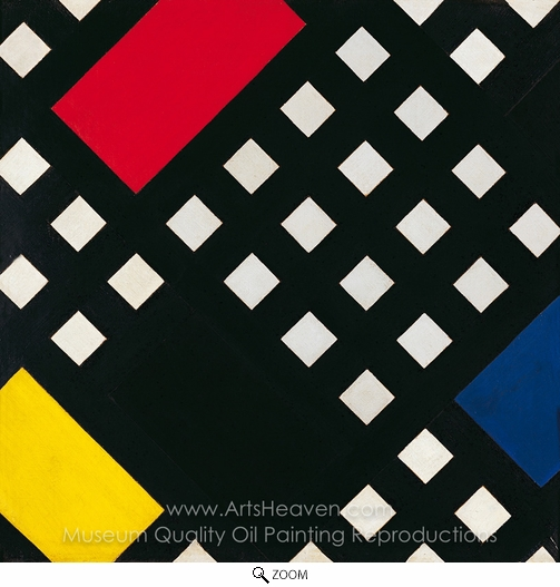 Theo Van Doesburg, Counter-Composition XV oil painting reproduction