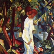 Couple in the Forest painting reproduction, August Macke