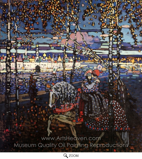 Wassily Kandinsky, Couple Riding oil painting reproduction